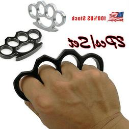 1/2Pcs Knuckles Ring Hand Four Finger Alloy Portable Self-De