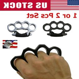 1/2Pcs Outdoor Knuckle Ring Hand Self-Defense Dusters EDC Fo