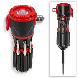 VP TEK 12 in 1 LED Screwdriver Flashlight Auto Emergency Mul