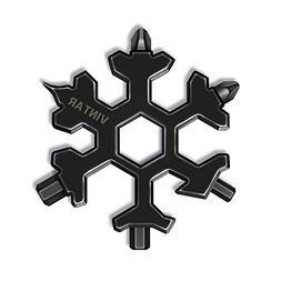 Vintar 18-in-1 Snowflake Multi-tool, Keychain screwdriver -B