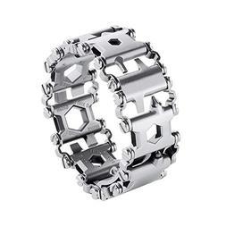 29 in 1 Stainless Steel Multifunction Bracelet Wearable Mult