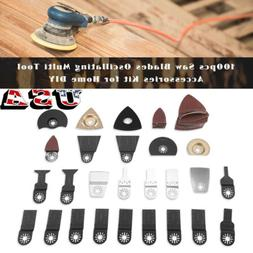 100pcs Saw Blades Oscillating Multi Tool Accessories Kit for