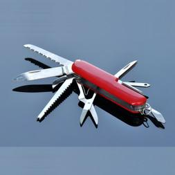 11 Multitool Swiss Army Knife Classic Stainless Steel for Ca
