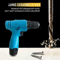 12V Lithium Cordless Electric Drill Multi-function Electric