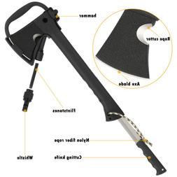 """14.1 """" Multi-Tool Hatchet Camping Axe Cutting Knife Survival"""