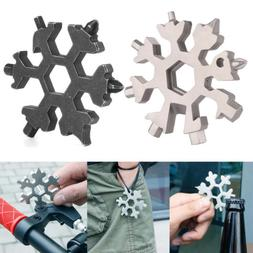 18-in-1 Multitool Combination Compact Steel Shape Flat Cross