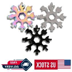 18 in 1 Portable Snowflake Multi Tool  Stainless Tool Screwd
