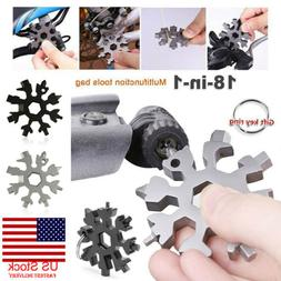 18 In 1 Snowflake Multi Tool Portable Stainless Tool Screwdr