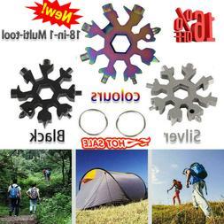 18 in 1 Snowflake Tool Card Multifunctional Screwdriver Wren
