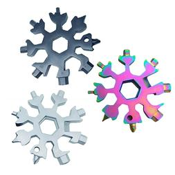 18 In 1 Stainless Multi-Tool Portable Card Snowflake Shape K