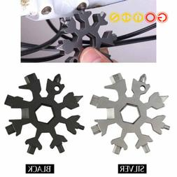 18in1 Snowflake Tool Card Multifunctional Screwdriver Wrench
