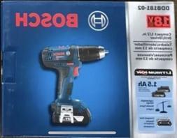 "Bosch 18V Compact 1/2"" Drill/driver Kit with 2-Slimpack Batt"