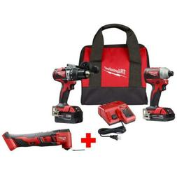 18v cordless hammer drill impact combo kit