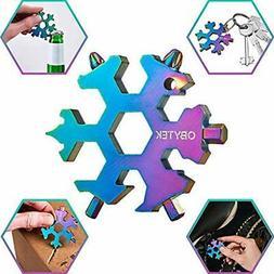 19-in-1 Titanium Steel Snowflake Multi Tool EDC Multitool Ke