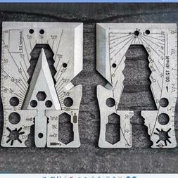 2 Pack Tactical Credit Card Axe 21 Function Multi-Tool