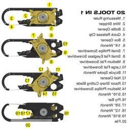 20-in-1 Pocket Multi Tools Keychain Emergency Outdoor Useful