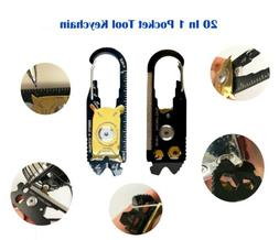 20-in-1 Pocket Multi Tools Keychain The Real Problem Solver