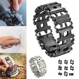 29 in 1 Function Multi Tool Tread Bracelet for Travel Outdoo