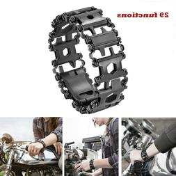29 Multi-function Tread Bracelet for Outdoor Hiking Stainles