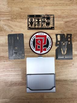Collectors Set Multi Tool Card survival Wallet Hiking Emerge