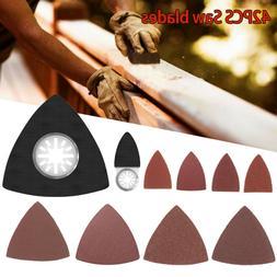 42PCS Sanding Pads Kit Polishing Sadpaper For Oscillating Mu