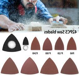 42PCS Triangle Sanding Pads Kit Polishing Sadpaper For Oscil