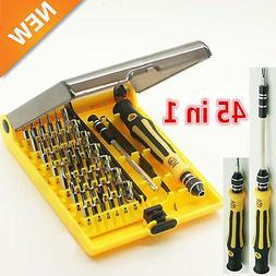 45 in 1 Multi-Bit Repair Tools Kit Set Torx ScrewDrivers For