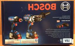 Bosch 18V 6.3 Ah Li-Ion Hammer Drill/Impact Driver Kit  GXL1
