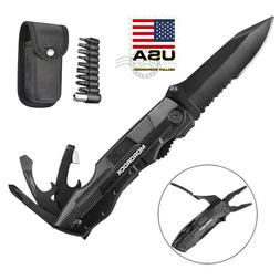 "7.5"" 5-in-1 Pocket Knife Multi Purpose Multi tool Tactical C"
