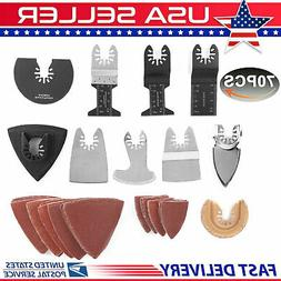 70pcs Oscillating Multi Tool Saw Blades Accessories Set For