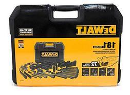 DEWALT DWMT81522 Mechanics Tool Set, Black Chrome Polish, 18