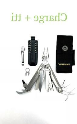 ~NEW~ Leatherman Charge+ TTi, Titanium w/ 4-pocket Sheath, P