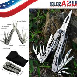 Survival Plier Fold Pocket Screwdriver Multi Tool Outdoor Hi