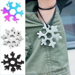 Amenitee 18-in-1 stainless steel snowflakes multi-tool Free
