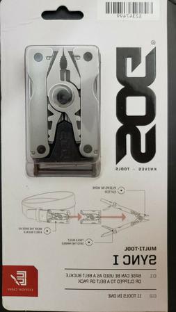 SOG Belt Buckle Multitool - Sync I EDC Multi Tool with 11 Ha