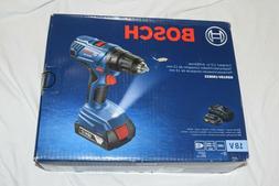 "Bosch 18-Volt Cordless 1/2"" Drill/Driver Kit + 2 Batteries C"