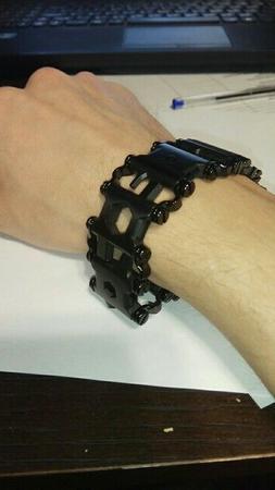 Buy HERE BLACK🎱multi functional multitool bracelet as a L