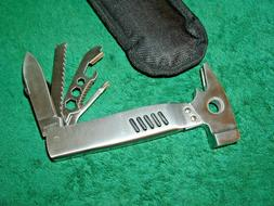 Coleman Style Stainless Steel Multi Tool = Hammer Knife Scre