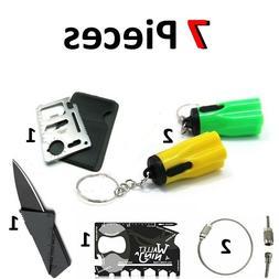 Credit Card Knives 1 Free Multi Tool wallet thin pocket surv
