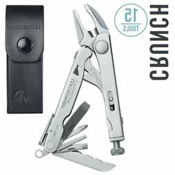 LEATHERMAN - Crunch Multitool, Stainless Steel with Leather
