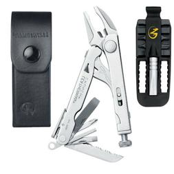 Leatherman Crunch Multi-Tool with Black Leather Sheath + Rem