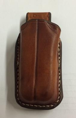 Custom Leather Brown Case/Sheath for the Leatherman Wave New