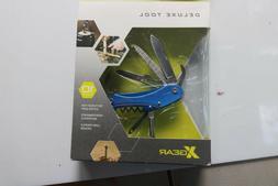 Xgear Deluxe Tool Blue Pocket Multi-Tools 10 Tools - Knife,