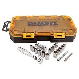 DeWALT DWMT73805 1/4-Inch Drive Socket 25 Piece Metric and S