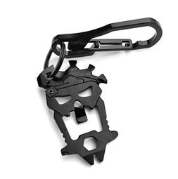 EDC Skull Mask Multi-tool with Anti-lost Keychain Carabiner,