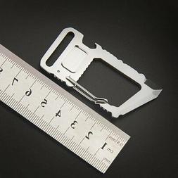 EDC Steel Carabiner Belt Clip Hex Driver & Bottle Opener Key