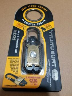 True Utility FIXR. 20 Tools in  1. Multi-Tool. Genuine Leath