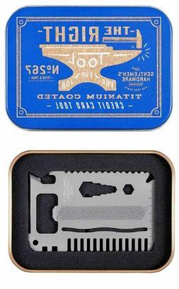 Gentlemen's Hardware -Wild & Wolf Credit Card Tool Titanium