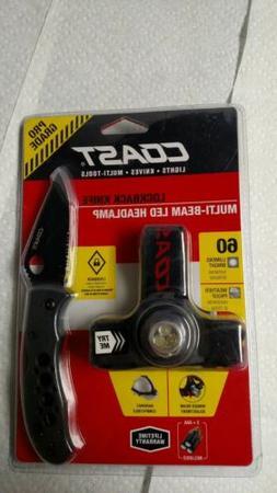 Coast hard hat light Multi Tool Knife with belt clip gift ca