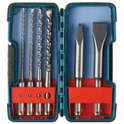 Bosch 6 Piece SDS-plus Masonry Trade Bit Set, Chisels and Ca